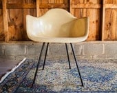 Parchment Vintage Eames Red Venice Label Herman Miller Chair