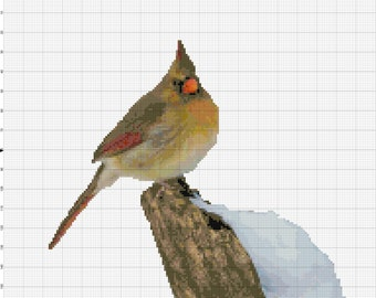 Cardinal Counted Cross Stitch Pattern