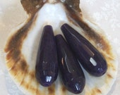 Amethyst Jade gemstone faceted tear drop pendant or focal  beads -30 x 10mm- (6 pieces)