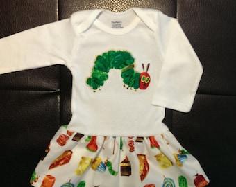 The Very Hungry Caterpillar Onesie Dress