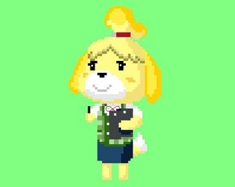 Animal Crossing - Isabelle Cross Stitch Pattern