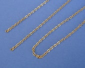 10pcs-Pre Cut 18 Inch Gold Plated Over Brass Flat Oval Chain.