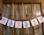 Nautical Wedding Date Banner/ Wedding Save the Date Banner/ Engagement Photo Prop /Wedding Date Banner /You Pick the Colors