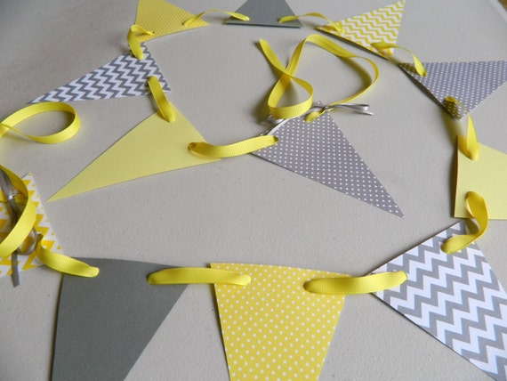 Yellow And Gray Baby Shower Decorations Yellow And Gray Polka Dot