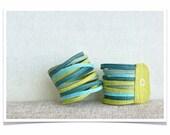 Skinny Wool Felt Stack Bracelet Wristband Cuff ø Lush ø LoftFullOfGoodies