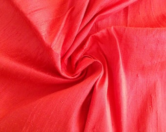 Fat quarter of100% pure  dupioni silk in unique pink