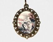 Mermaid Necklace, Beach, Sea, Ocean Jewelry, Mermaids, Oval Pendant