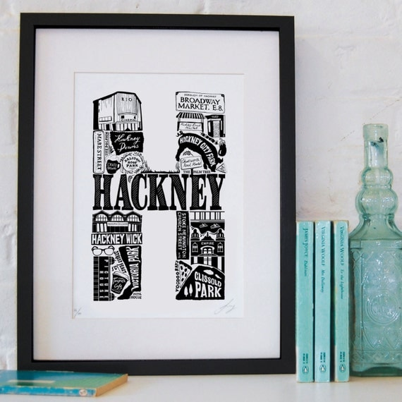 Best of Hackney limited edition screenprint // London Letters series