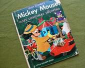 Vintage 1953 Walt Disney Mickey Mouse Christmas Little Golen Book