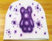 Purple Vinylmation Color Burst Airbrush Beanie