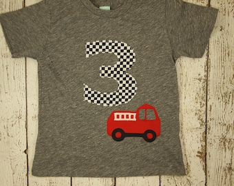 Fire Truck Birthday, fire truck shirt, fireman party, fire truck party, dalmation, Boys Birthday Shirt,  truck shirt, firetruck party