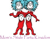 Thing 1 & 2 iron-on transfer