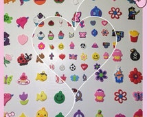 Rubber Charms 70+ Style fit any Loom and Rubber bands Refills Boy Girl +Jump Rings Bracelet Craft Jewelry