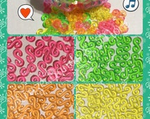 Complete your Loom Projects with Candy Color transparent S Clips for Loom Rubber bands craft refill for Bracelet Craft