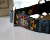 Native American Indian Flannel Chimayo style Dog Collar