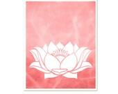 Lotus 8 x 10 Modern Art Print, Zen, Yoga, Meditation, Living Room Design, Pink, choose color, SALE buy 2 get 3