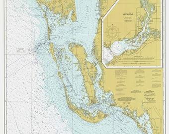 Nautical Chart – Estero Bay to Lemon Bay 1977