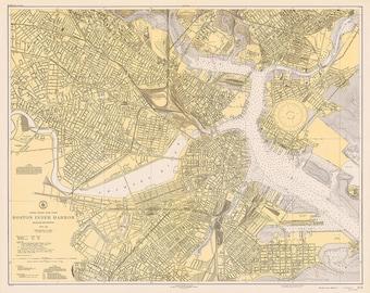 Boston Inner Harbor 1940