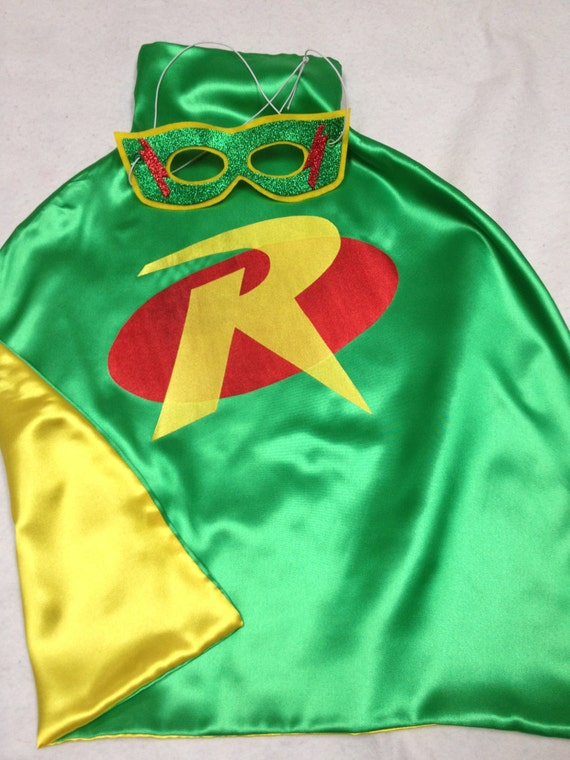 1 Robin Cape and Matching Mask for your little Superhero for Birthday Party Gifts Christmas Gifts All Occassion Party Favors