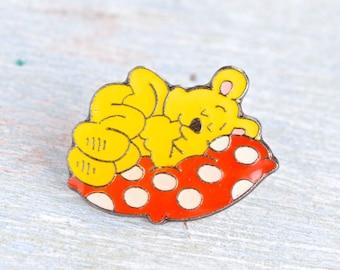 Beddy Bye Time - Sleeping Teddy - Vintage Humor Badge