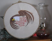 Eagle Scripture verse as wall hanging