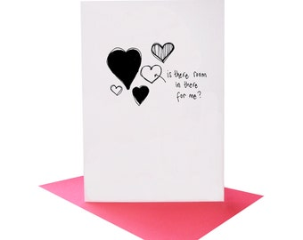 Is There Room In There For Me? - Valentine's Card - love card  -  funny love card- card for boyfriend - card for girlfriend -