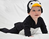 0-3m Wedding Penguin Suit - Tuxedo Baby Onesie Costume with Hat - Lil' Creatures