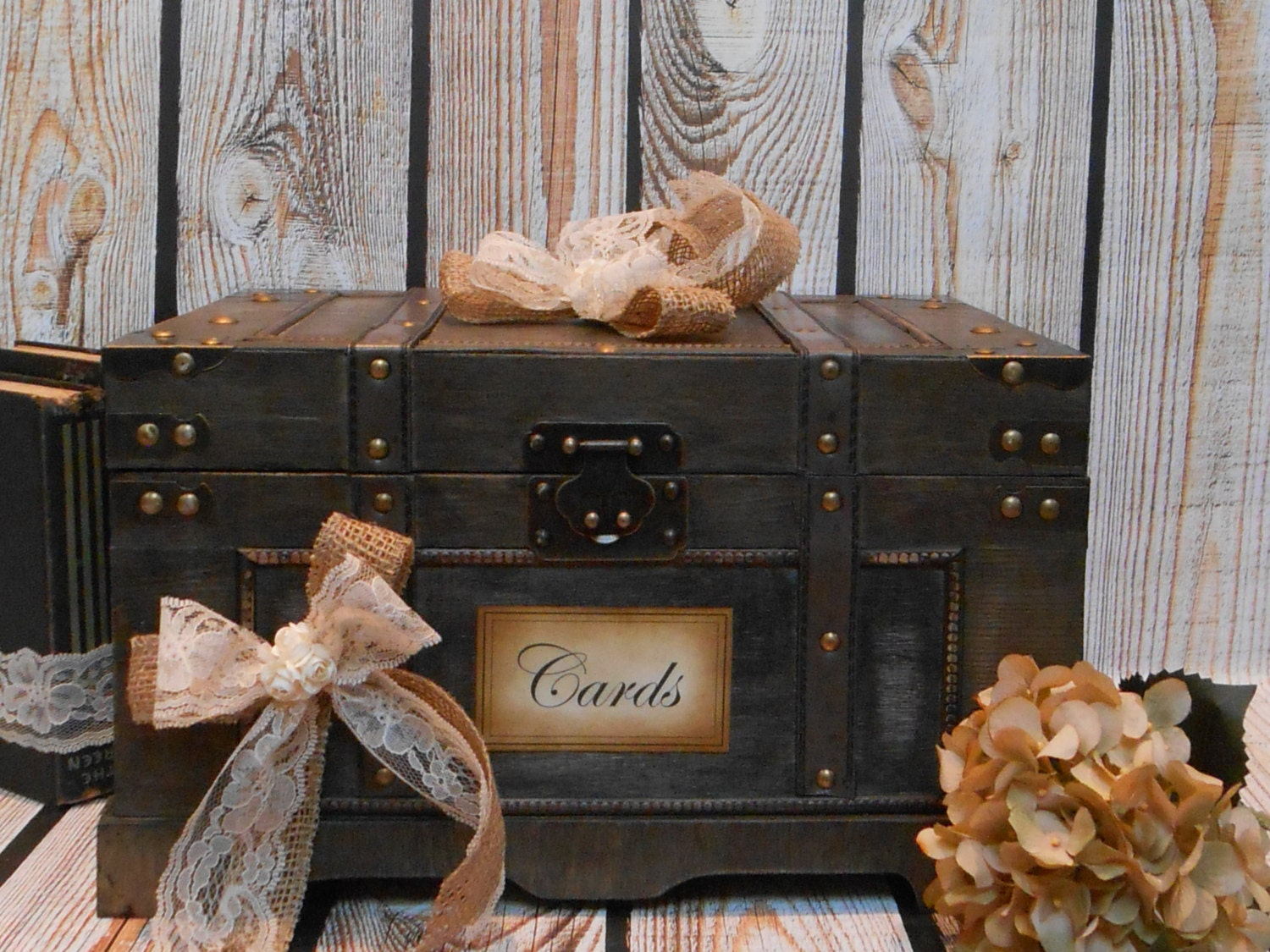 Vintage Trunk Wedding Card Box Wedding Card Box / Wedding