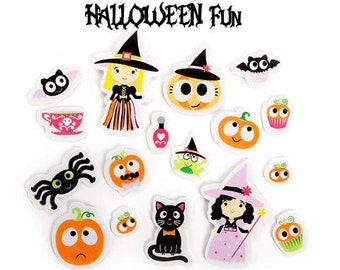 Foamies party ghouls stickers. Adhesive Halloween embellishments. Fun stickers for planners, journals, scrapbooking. Fun kids crafts sticker