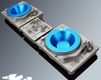 Deck-Tray MKII Deluxe Package ( Silver ) - Technics Inspired DJ Turntable and Mixer box Sculpture