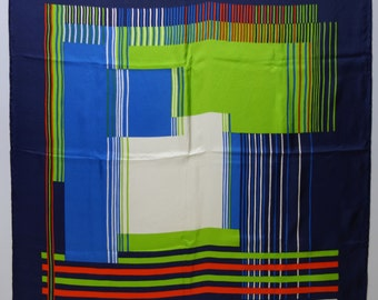 60s CHRISTIAN DIOR 60s Geometric Silk Scarf France