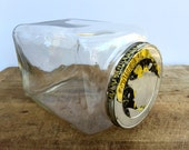Vintage Glass bottle Canister