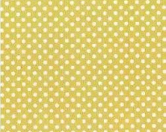 SALE - Dot to Dot - Lime Yellow from Michael Miller