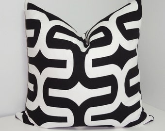 Black & White Geometric Print Pillow Cover Decorative Throw Pillow Cover  All Sizes