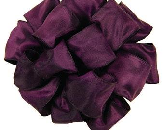 "Wired Ribbon 1 1/2"" Eggplant Dark Purple - THREE YARDS - Offray ""Gelato Eggplant"" Fall, Thanksgiving, Wedding Ribbon, Prom Wire Edged Ribbon"