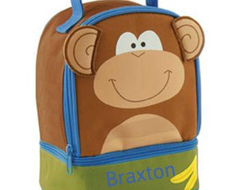 Personalized Boys Lunch Box Bag Stephen Joseph Lunch Pals in Monkey