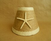 Jute Wrapped Chandelier Lampshades with Pencil Starfish Custom Order only