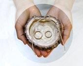 Ring Bearer Box / Slice Wedding ring holder Rustic Wooden Ring Holder Ring Bearer Pillow Alternative Natural Wedding ring slice Wedding Box