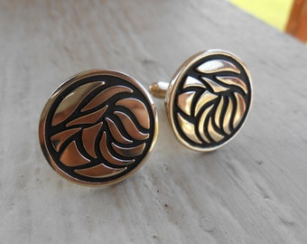 Vintage Tribal Cufflinks. Wedding, Men's Christmas Gift, Dad. Groomsmen. Father's Day.