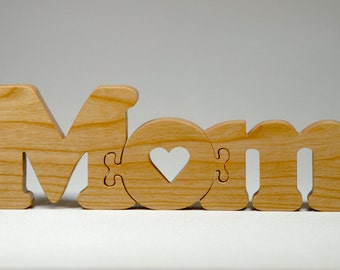 Mothers day mom wooden puzzle gift for Mothers day, new moms or baby shower