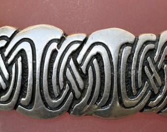 Vintage Sterling Silver Highlander Celtic Knot Cuff Bracelet