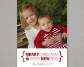Holiday Card -- Merry Christmas and Happy New Year
