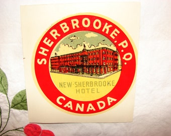 Vintage Souvenir Camper Decal from the 60's Sherbrooke, P.Q. Canada