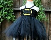 Batgirl Dress - Bat girl tutu - Batgirl costume - batman girls costume - batman dress - superhero costume for girls