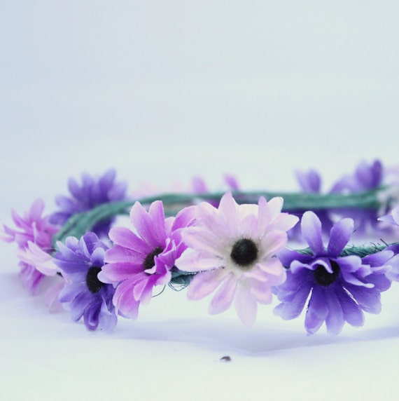 Flower Crown Purple: Items Similar To Purple And Pink Flower Crown