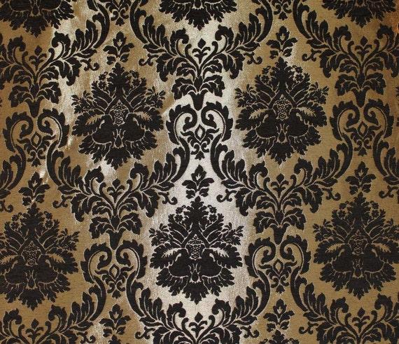 Articoli simili a tessuto barron oro damasco pattern for Stoffa da parati