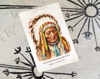 Nebo Cigarette Silk Sitting Bull the Greatest War Chief Tobacco Silk