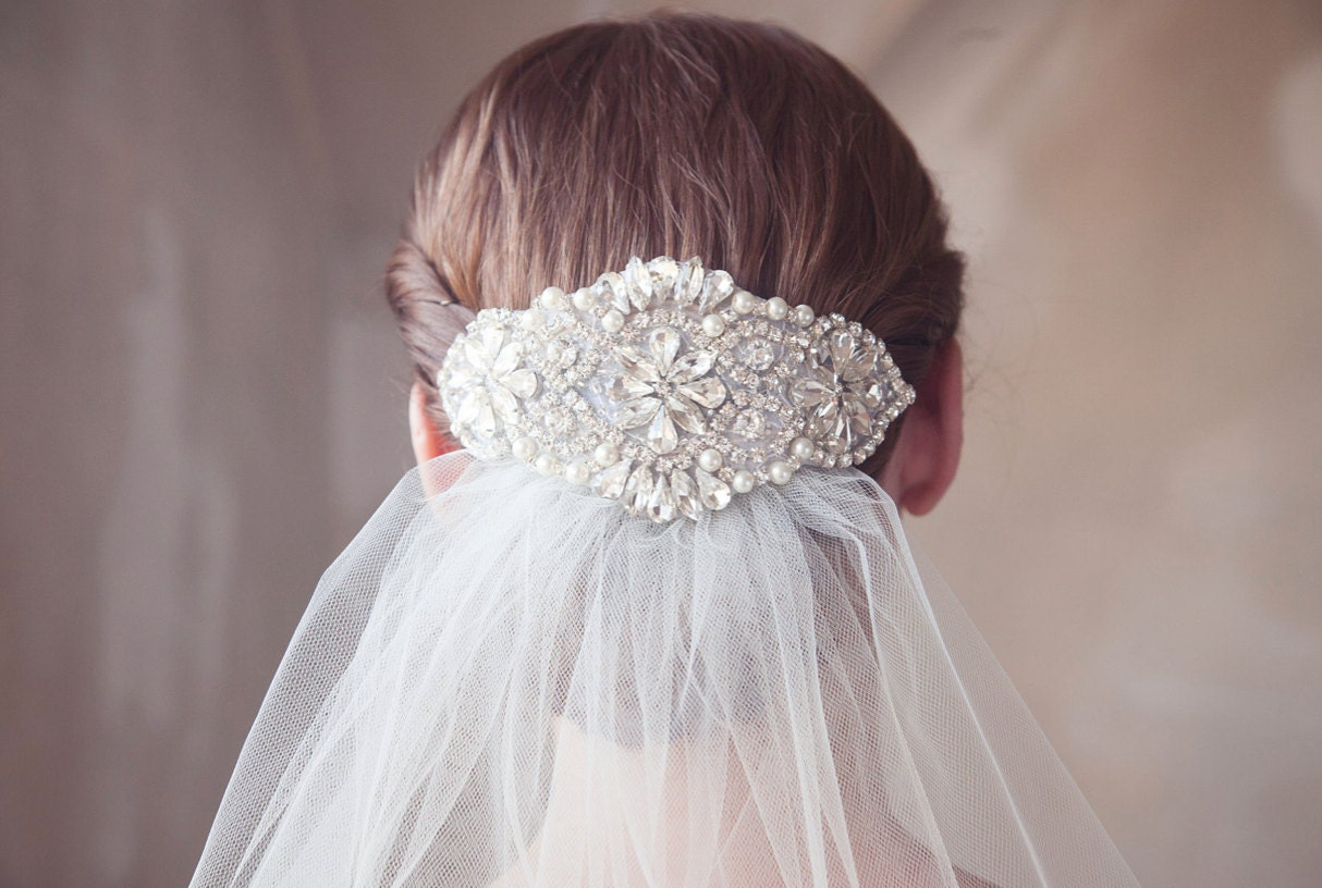 Pearl and Crystal Bridal Headpiece Rhinestone Hair Comb