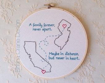 Family Forever . Custom Embroidery Hoop