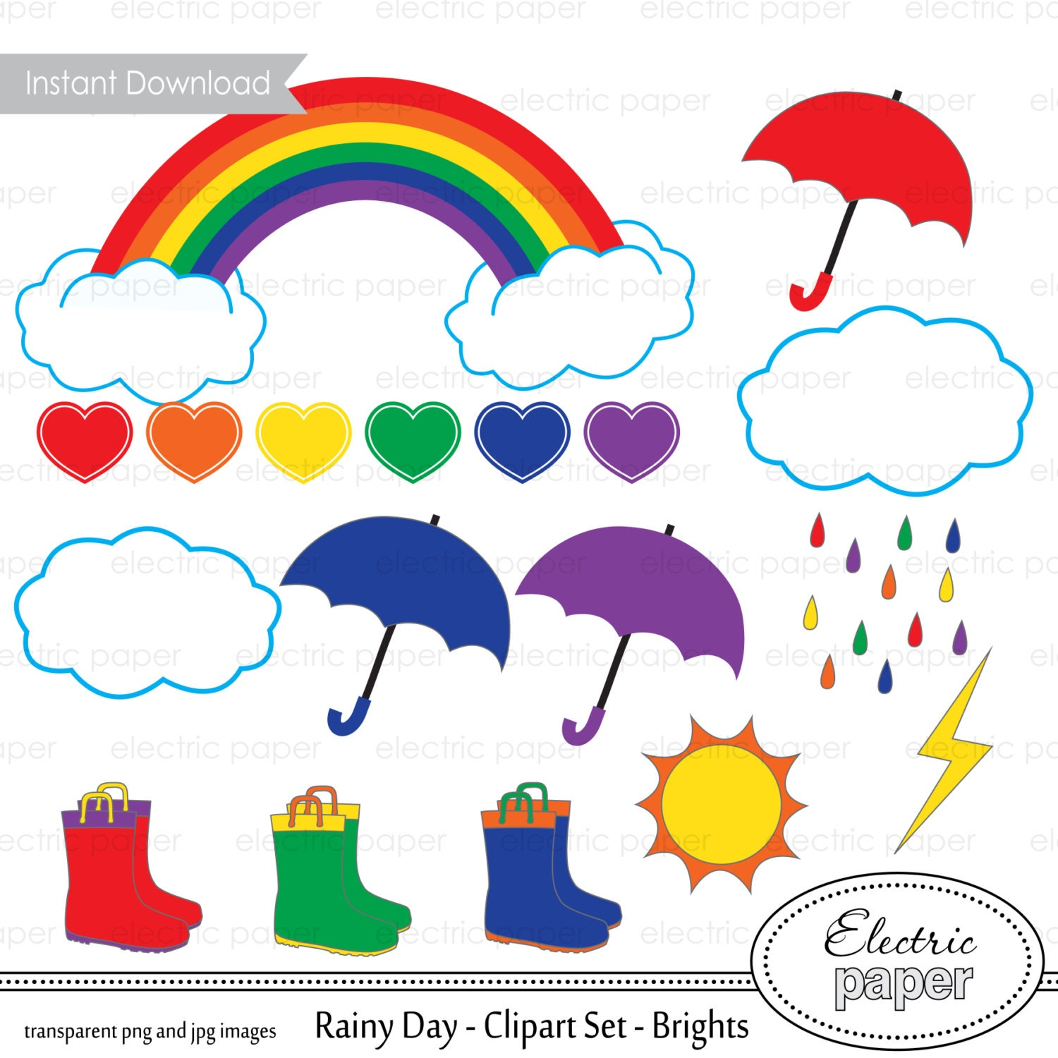 Happy Rainy Day Clipart on Coloring Page Of An Umbrella With Raindrops